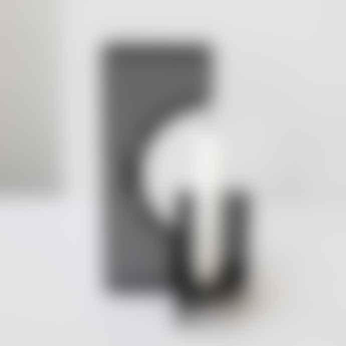 Kristina Dam Black Powder Coated Steel Dash Candlestick Holder