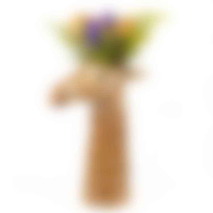 Quail Ceramics Giraffe Flower Vase Large