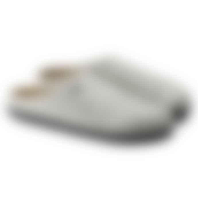 Birkenstock Zermatt Rivet Wool Felt Slipper Light Grey
