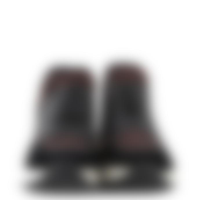 Ash Leopard Print Neoprene and Black Leather Krystal Trainer Shoe
