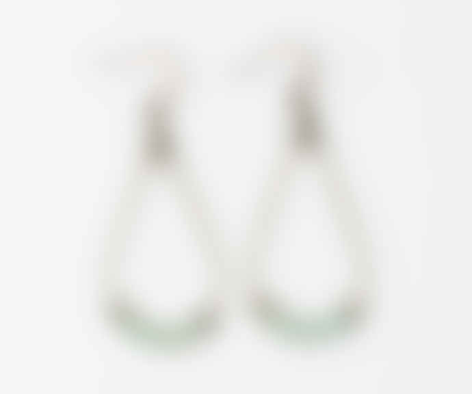 Maison Mathuvu Brass and Hematit Beads Mila Earrings