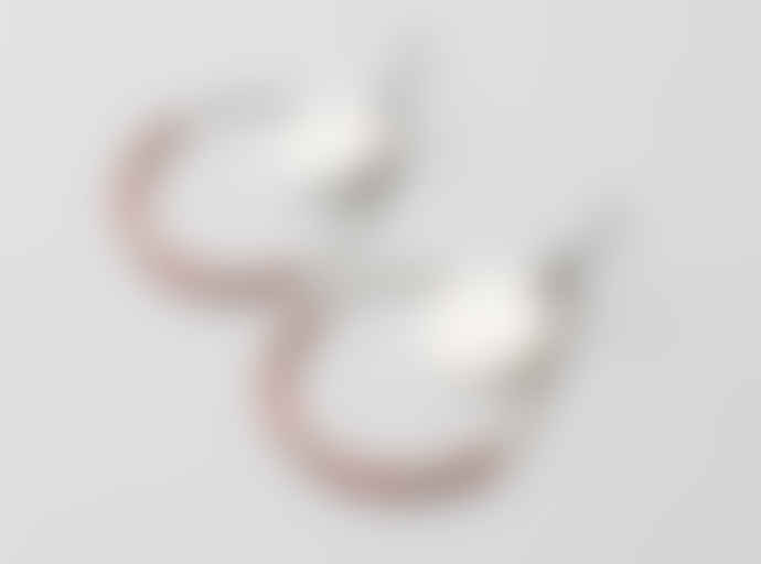 Maison Mathuvu Brass Hoops Miyuki Earrings