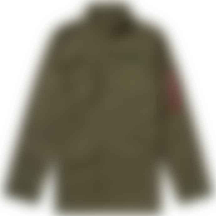 Alpha Industries Medium Dark Olive Cotton Huntington Patch Jacket