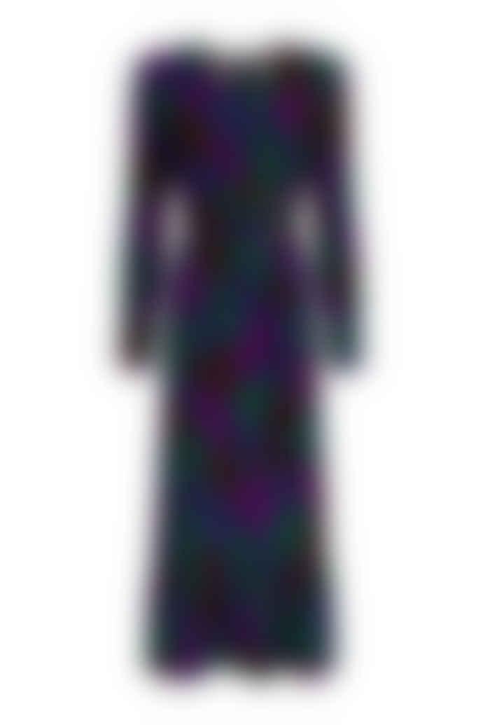 Fabienne Chapot Carlotta midi dress in Patchy Leopard Print