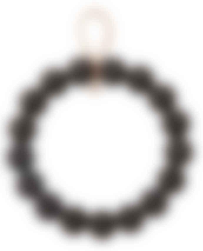 Verso Design Birch Wood Kranassi Wreath in Black - large
