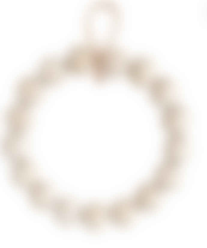 Verso Design Birch Wood Kranssi Wreath in Natural - large