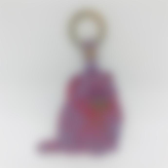Ark Ark Colour Design Lilac Leather Kitten Key Ring