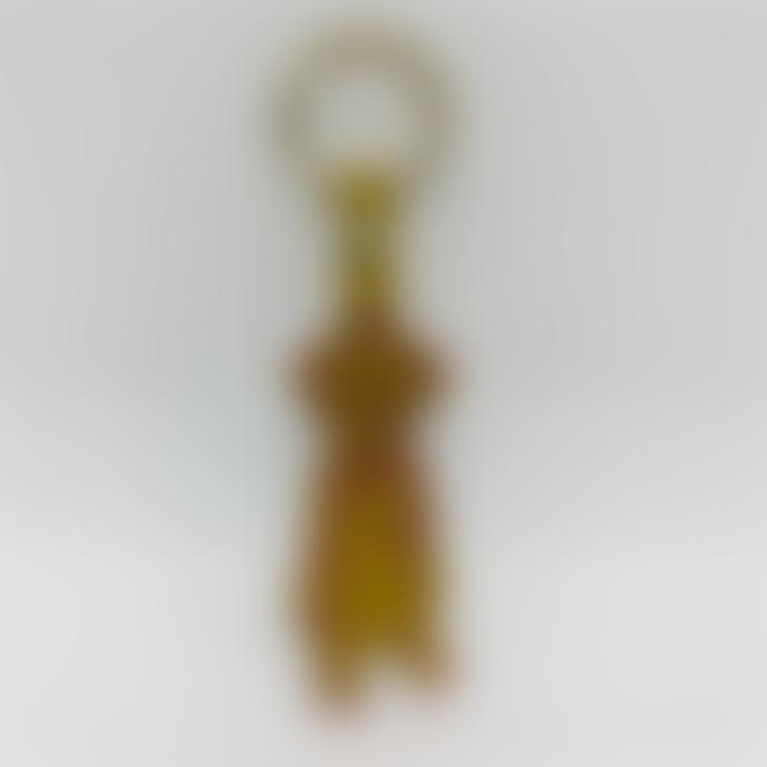 Ark Ark Colour Design Embossed Leather Dog Key Ring