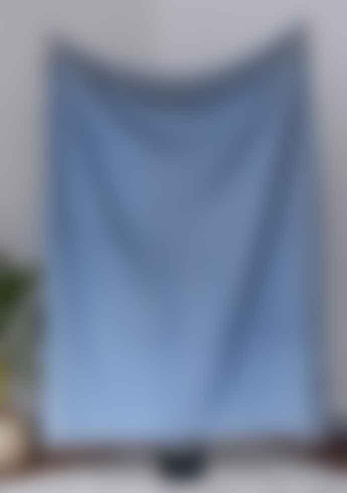 The Tartan Blanket Co. Recycled Wool Blanket / Throw (Sky Blue)