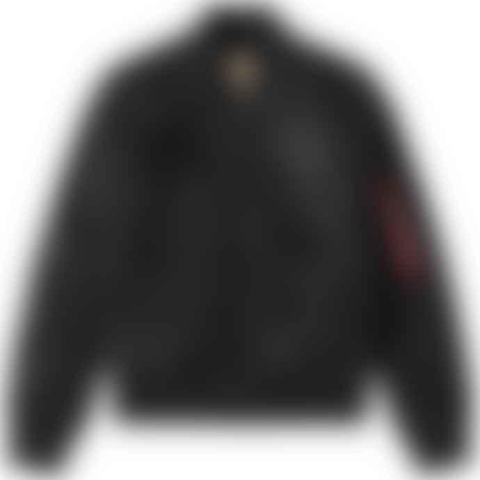 Alpha Industries Black Nylon Nasa Flight Jacket