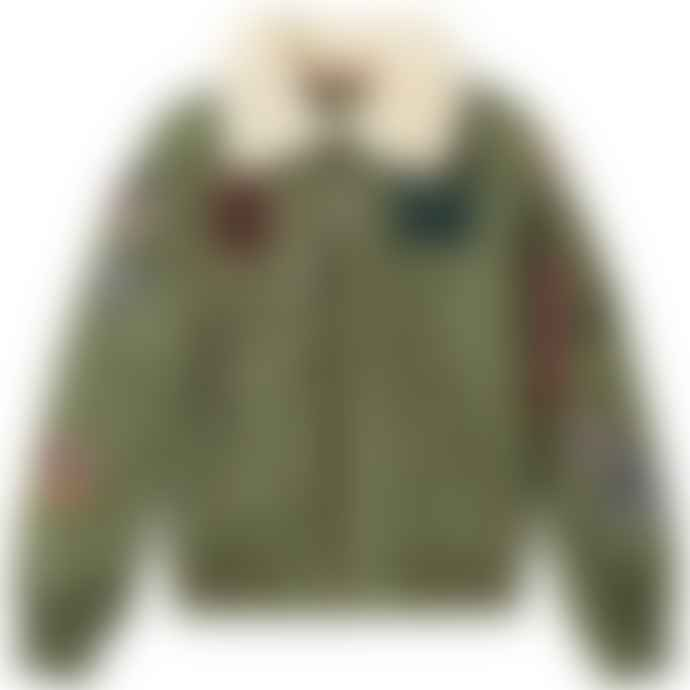 Alpha Industries Sage Green Nylon Flight Jacket
