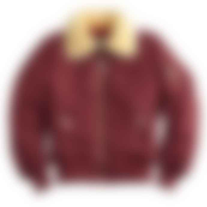 Alpha Industries Burgundy Nylon Flight Jacket