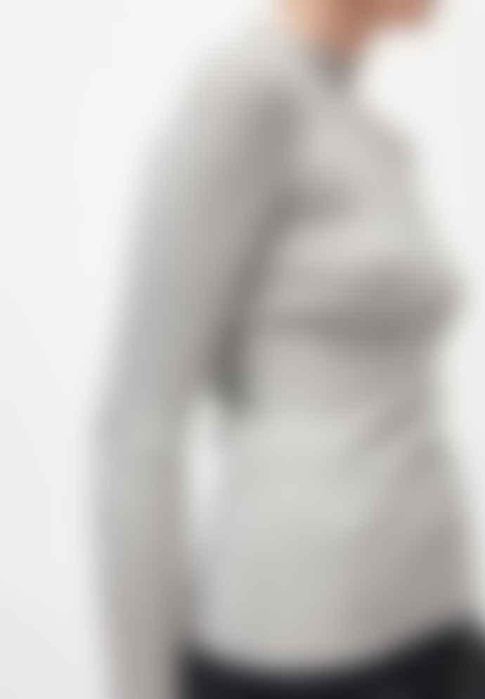 Armedangels Alaani Organic Cotton Knitted Sweatshirt Grey Melange