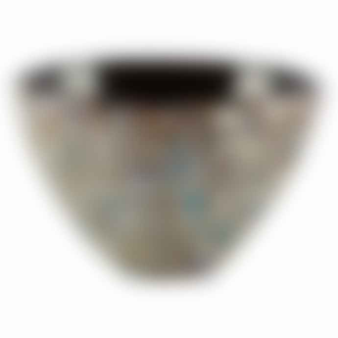 Italesse Mares Handcrafted Single Large No 11 Glass Snack Bowl In Oyster Design