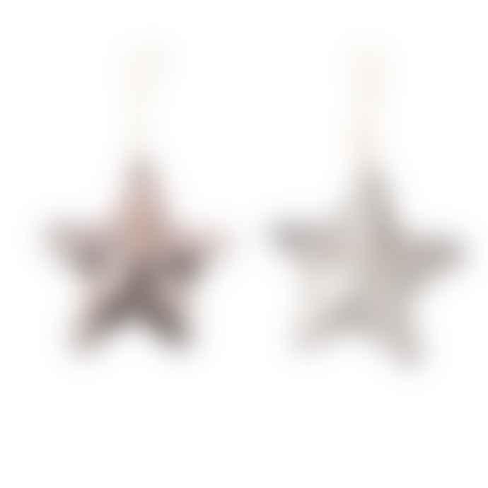 Feather & Nest Reversible Sequin Mini Star Decoration