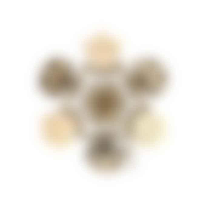 Fundamental.Berlin Set of 3 Brass Snowflakes