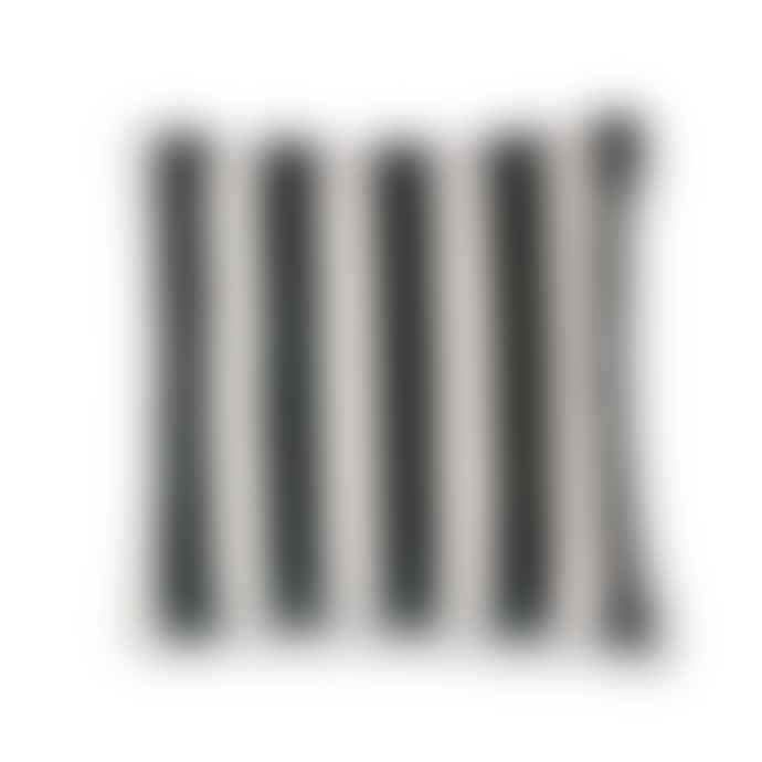 Mink Interiors Velvet Cushion - Black + White Stripes (With Luxury Feather Inner)