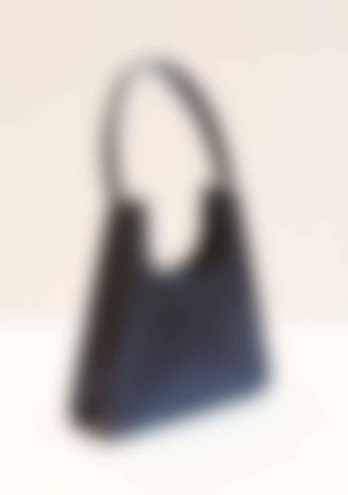 Collection & Co Aries Black Faux Croc Bag