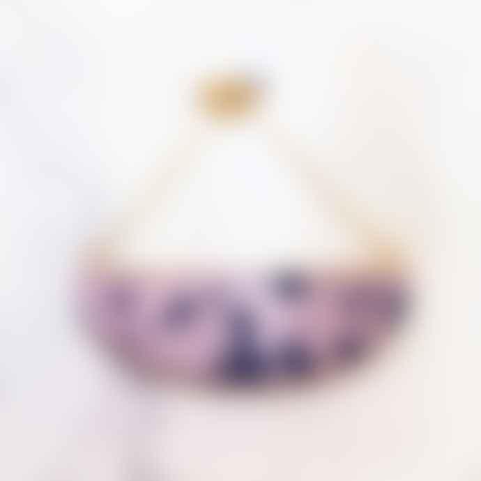 Hippstory Lunar necklace pink & black confetti /yellow lunar storm