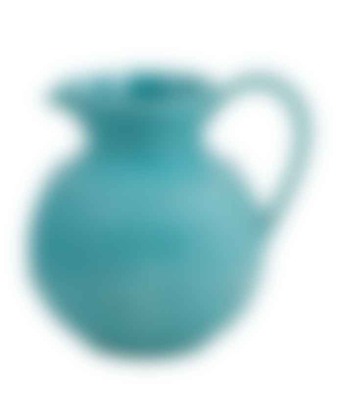 Bordallo Pinheiro Teal Earthenware Pitcher