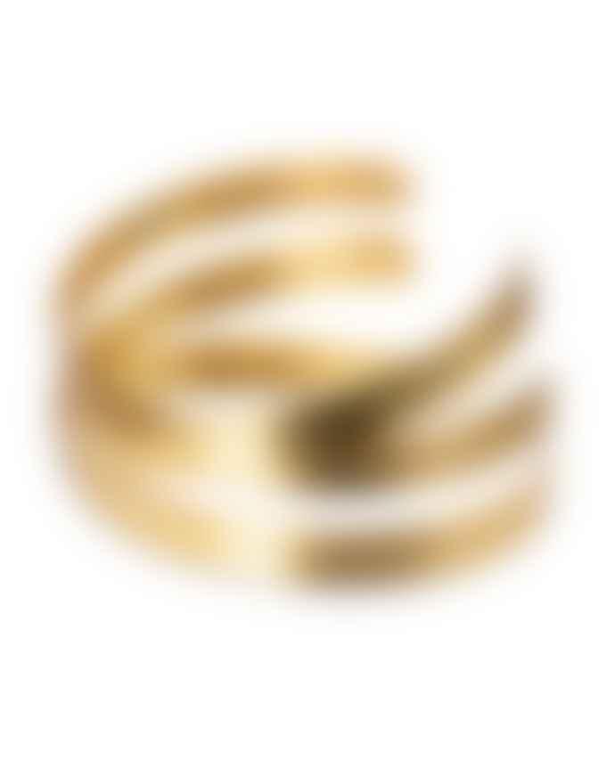 Yaya Gold Twisted Cuff Bangle