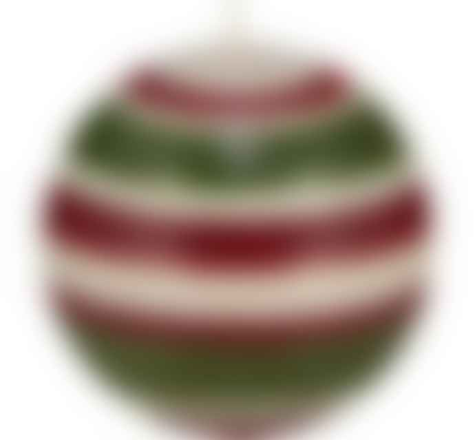 British Colour Standard Large Red Pearl Olive Ball Candle