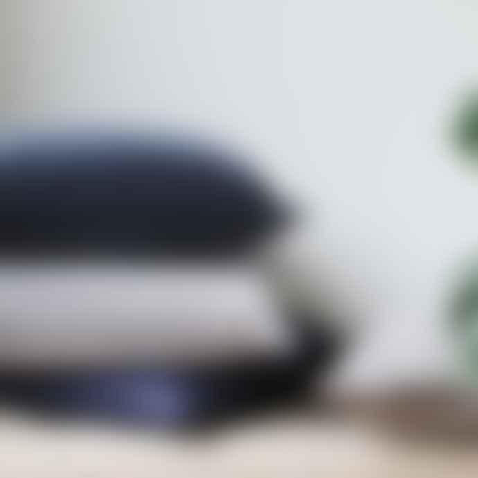 Biggie Best 50cm x 50cm Charcoal Stonewashed Velvet Cushion