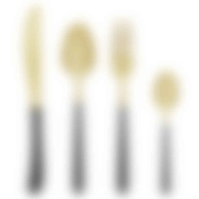 Bloomingville Stainless Steel Black And Gold Cutlery