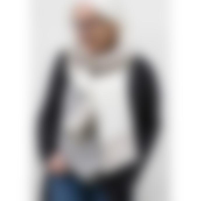Lapuan Kankurit 75 x 220cm Beige and White Merino Wool Halaus Scarf