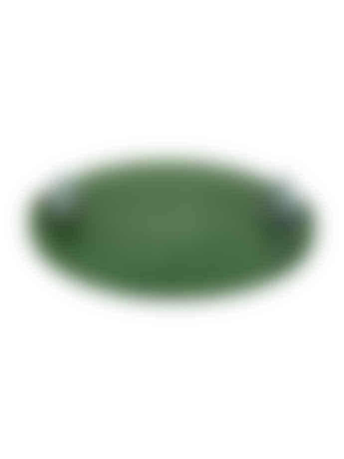 Bordallo Pinheiro 31.5cm Green Lily Earthenware Natural Mouse Cheese Tray