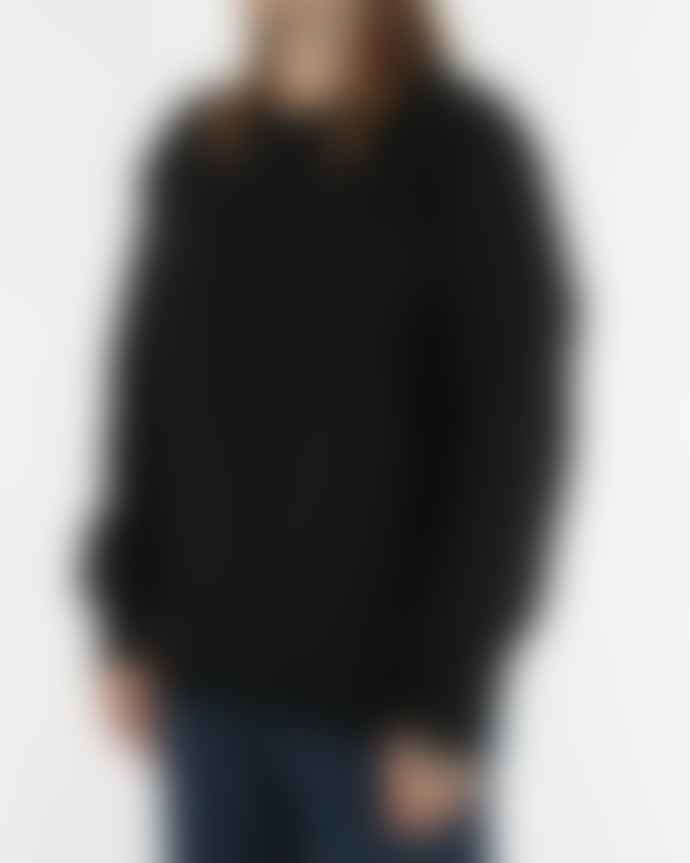 Soulland  Cassidy Herringbone Sweater Black