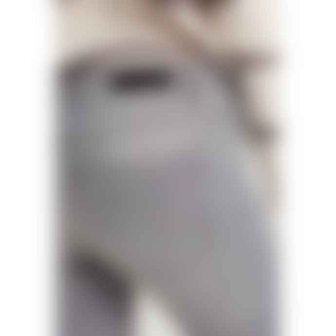 Yaya Straight Jeans with Faryed Hems - Grey Denim