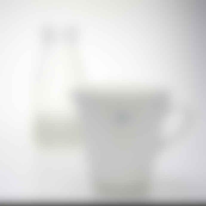 Make International Cream Ceramic Jug with Milk in Blue Print