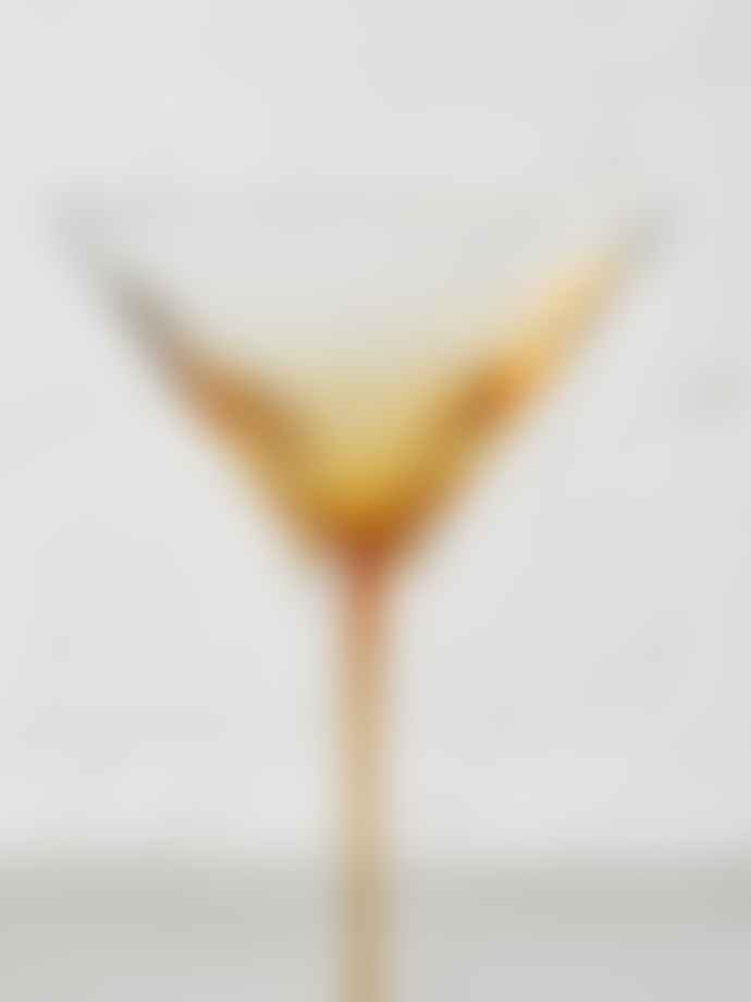Broste Copenhagen Amber Mouthblown Martini Glass