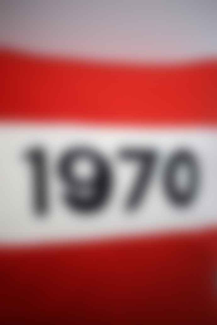 Bella Freud  1970 Red Cashmere Wool Cushion