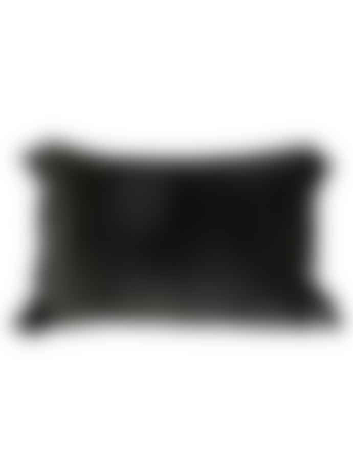 Byliving Velvet Tassel Cushion Black