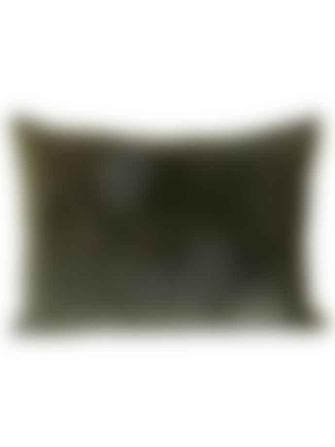 Byliving Velvet Cushion Large Olive