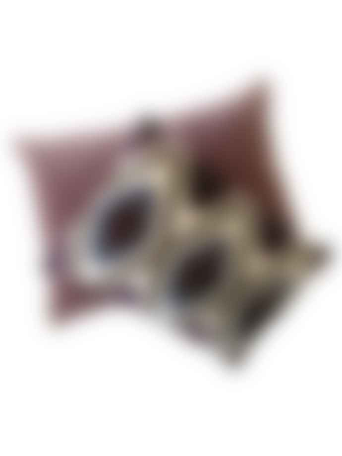 Byliving Harlequin Cushion Purple