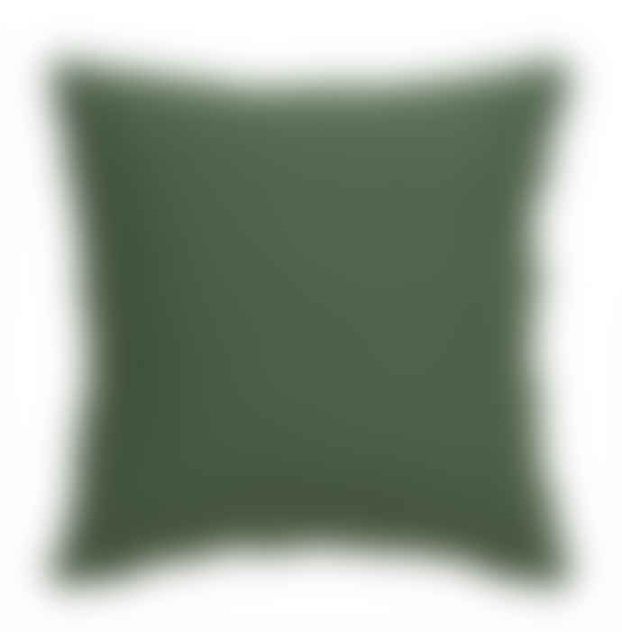 Wallace Cotton Burre Square Cushion Green