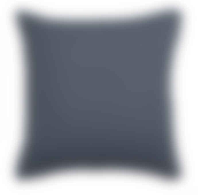 Wallace Cotton Rose Anna Square Cushion Cover Indigo