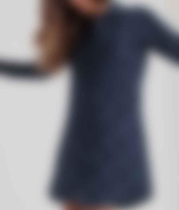 Thinking Mu Blue Checks Amanda Shirty Dress