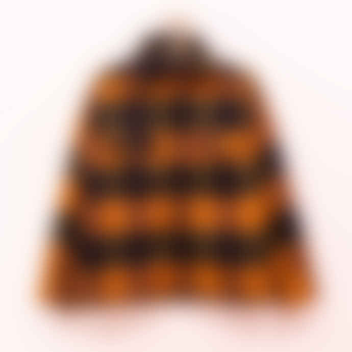 Anine Bing Orange Plaid Jacket