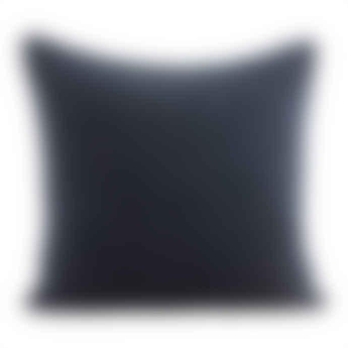 House Doctor Quilted Velvet Herringbone Cushion in Petrol Blue