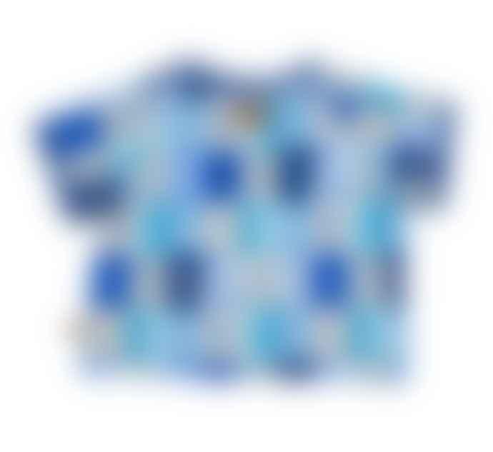 LaMAMA T Shirt Raglan Loca Blue