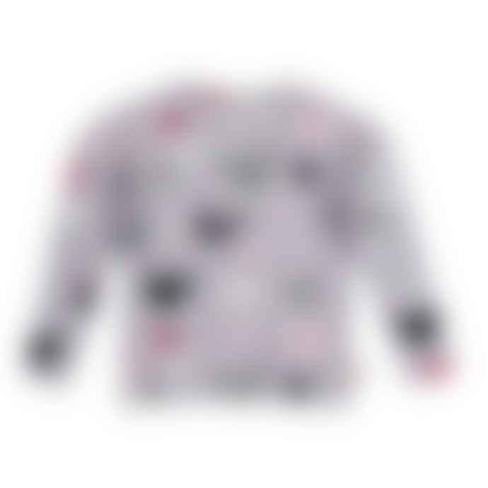 LaMAMA Granha Grey Longsleeve T Shirt