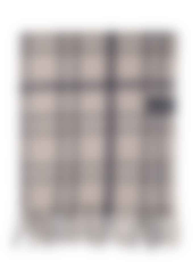 The Tartan Blanket Co. Recycled Fibre Light Grey Check Blanket