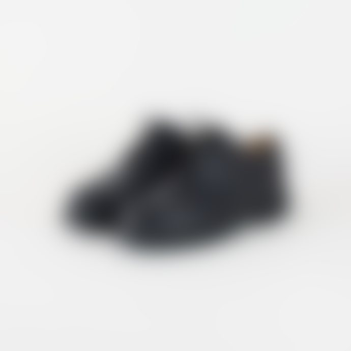 Paraboot Black Leather Smooth Night Texture Chambord Shoe