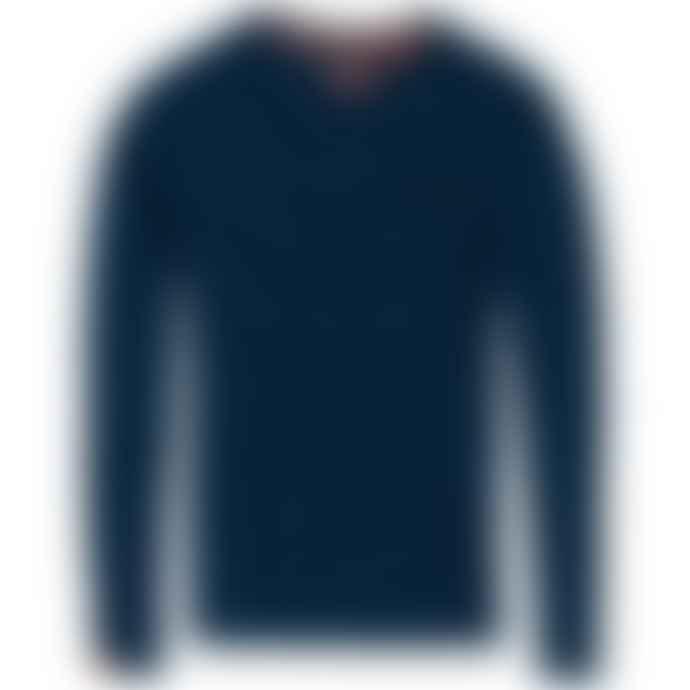 Superdry Orange Label Vintage Embroidery Long Sleeve T Shirt Ketion Blue Marl Feeder