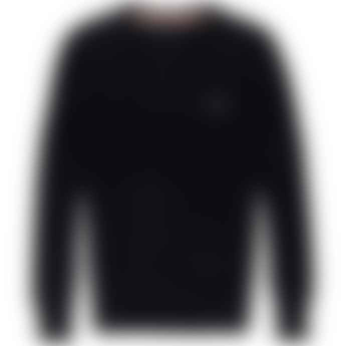Superdry Orange Label Crew Knit Black Navy