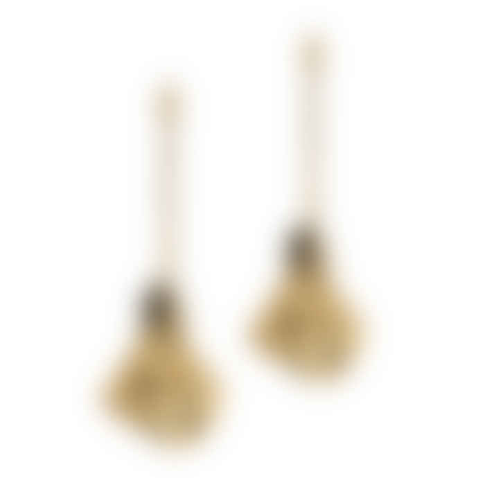 Ruddock 18 Carat Gold Plated Bronze Amma Earrings